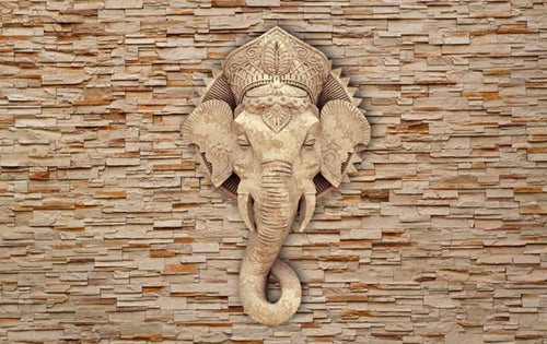 SAF GANESH SPARKLE COATED SELF ADHESIVE WITHOUT FRAME  (24 inch x 36 inch)