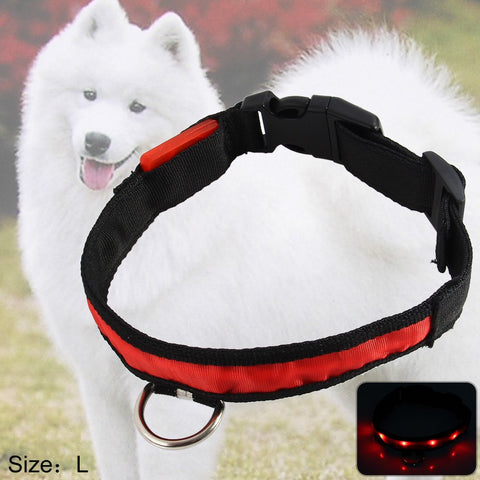 2.5cm Nylon LED Light Up Safety Pet Circular Pendant Collar - Oveya