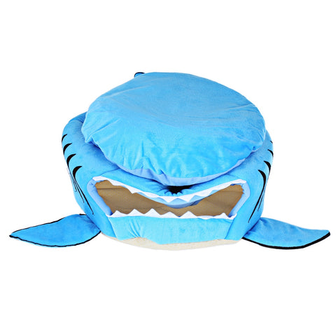 Novelty Soft Shark Mouth Shape Doghouse Pet Sleeping Bed with Removable Cushion
