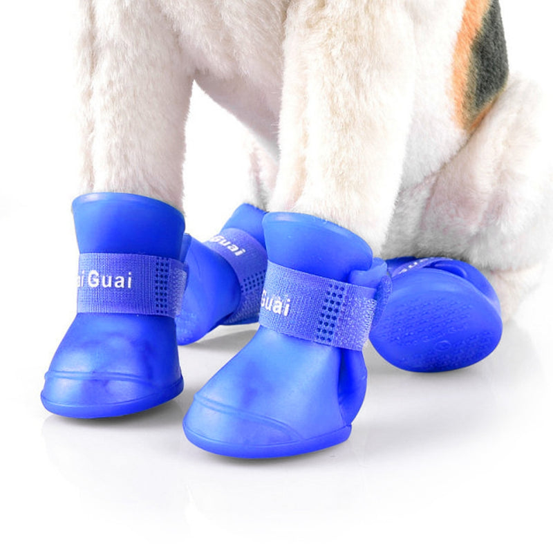 2 Pair Durable Dog Cat Rain Shoe Snow-proof Boot Household Supplies