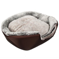 Soft Washable Pet Dog Cat Bed Ger House Nest with Removable Cushion