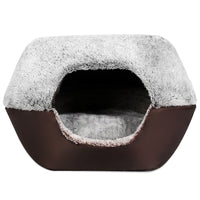 Soft Washable Pet Dog Cat Bed Ger House Nest with Removable Cushion - Oveya