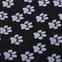 Footprint Pattern Waterproof Pet Rear Back Seat Cover Cars Mat