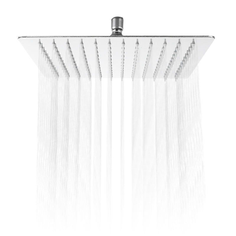 12 inch High Pressure Ultra Thin 201 Stainless Steel Square Rain Shower Head - Oveya