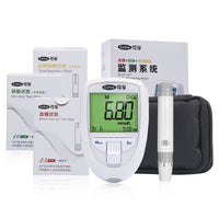 Blood Glucose & Uric Acid & Cholesterol 3 in 1 Multi Monitor with Test Strips For Elder Test in Home - Oveya