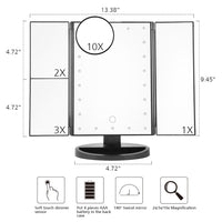 Magnifying Touch Screen Mirror - Oveya