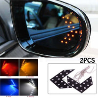 2 Pcs LED Arrow Panel For Car Rear View Mirror