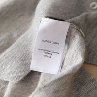 Pure Cashmere Knitting V-neck Single Breasted Cardigan - Oveya