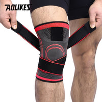 AOLIKES 1PCS 2020 Knee Support Professional Protective Sports Knee Pad Breathable Bandage Knee Brace Basketball Tennis Cycling - Oveya