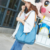 DIDABEAR Brand Canvas Tote Bag Women Handbags Female Designer Large Capacity Leisure Shoulder Bags Big Travel Bags Bolsas - Oveya
