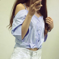 Womens Off Shoulder Blouse - Oveya