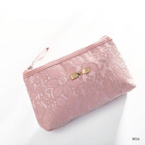 Lace Design Cosmetic Bag