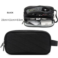 Portable Travel Digital Gadgets Storage Bag for HDD Data Cable Adapter Earphone Battery Electronics Accessories Organizer Pouch - Oveya