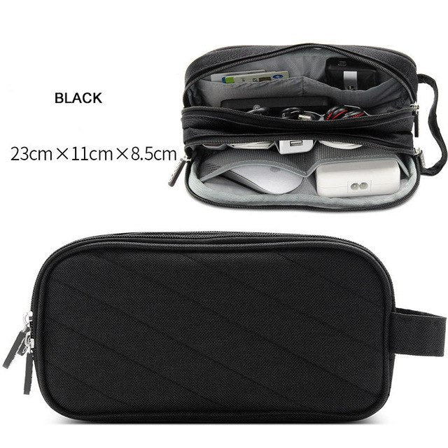 Portable Travel Digital Gadgets Storage Bag for HDD Data Cable Adapter Earphone Battery Electronics Accessories Organizer Pouch