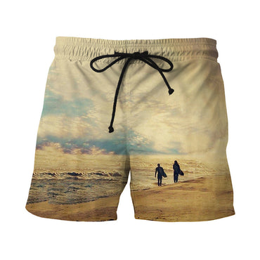 Men Fast Dry Beach Shorts Casual Surfing Swimming Trunks with Pockets - Oveya