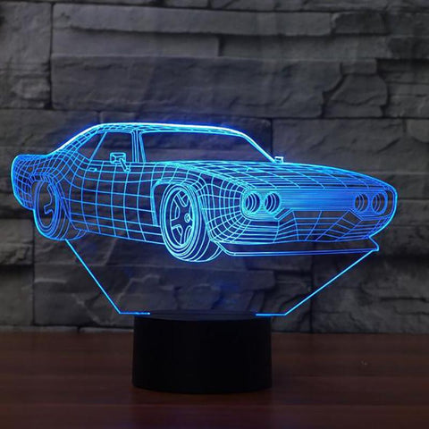 Dodge 3D LED Night Lamp