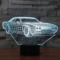 Dodge 3D LED Night Lamp - Oveya