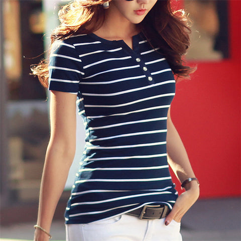 Womens Vneck Casual Shirt - Oveya