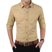 Long Sleeve Casual Men Shirt - Oveya