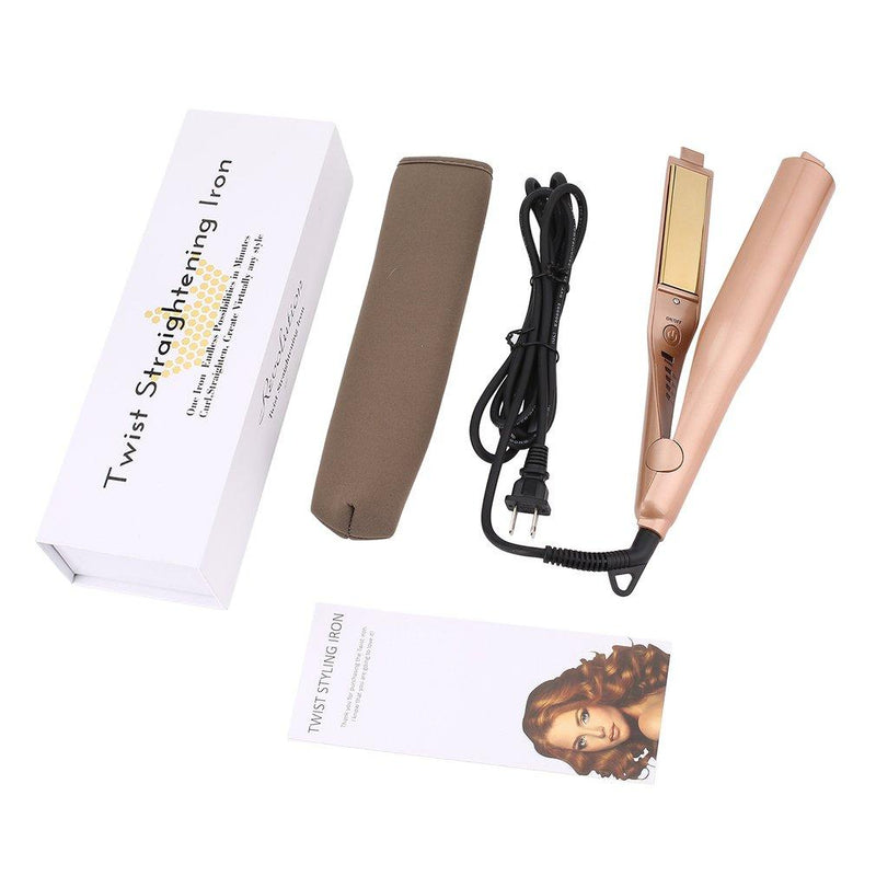 2 in 1 Twist Curling & Straightening Iron - Oveya