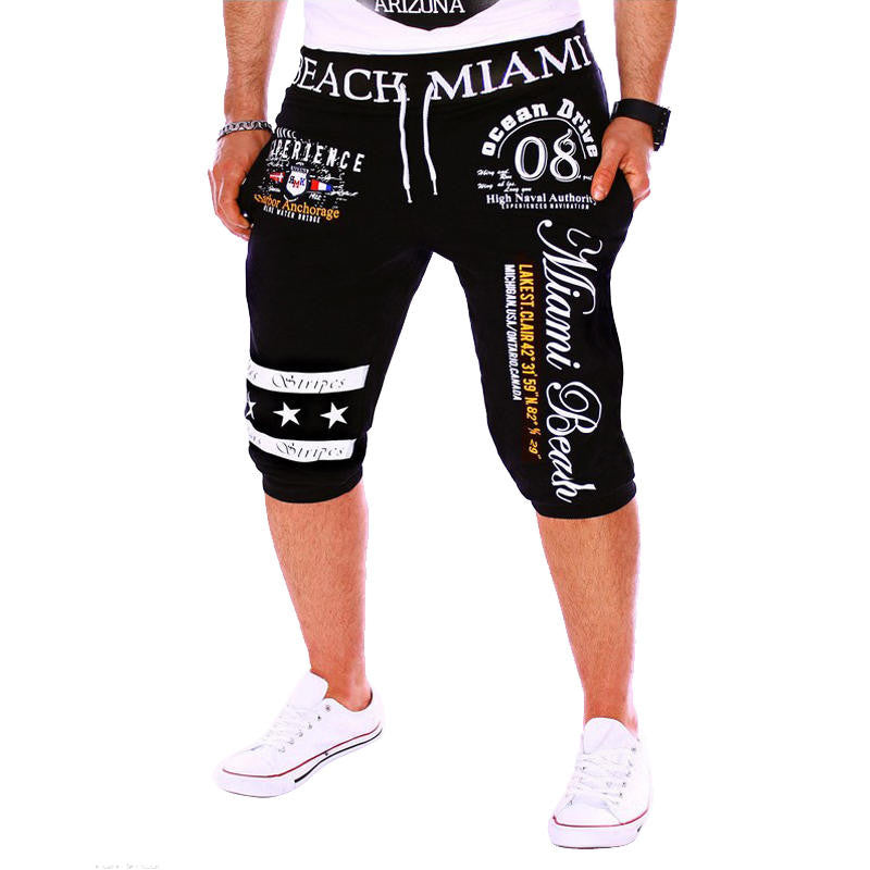 Men'S Casual Sports Pants Fashion Digital Printing Design Sweatpants