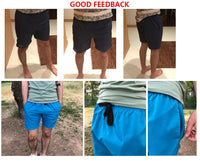 Polyester Shorts For Men Summer Solid Breathable Elastic