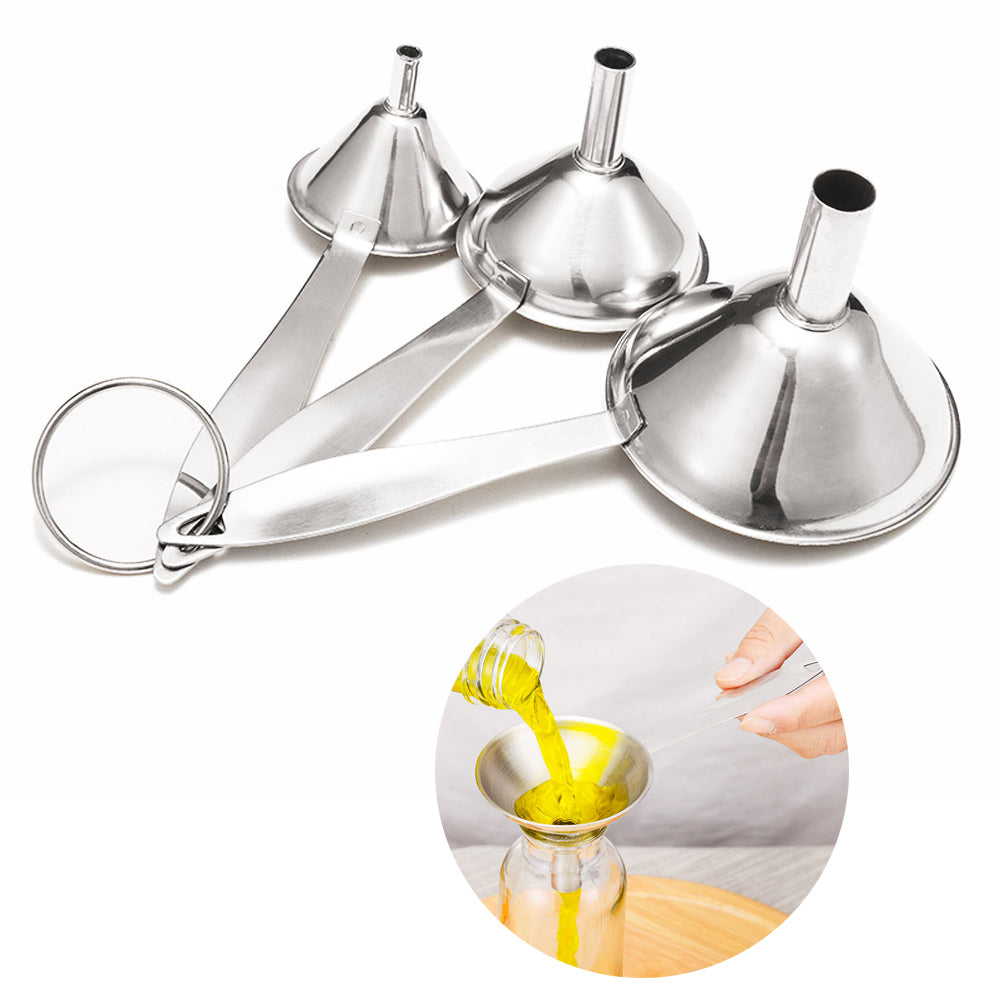 3Pcs/Set Stainless Steel Funnel