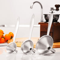 3Pcs/Set Stainless Steel Funnel - Oveya