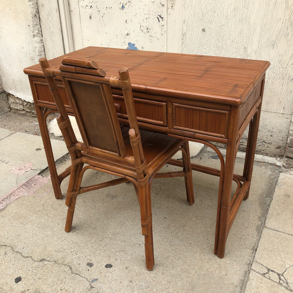 Rattan Desk with Chair