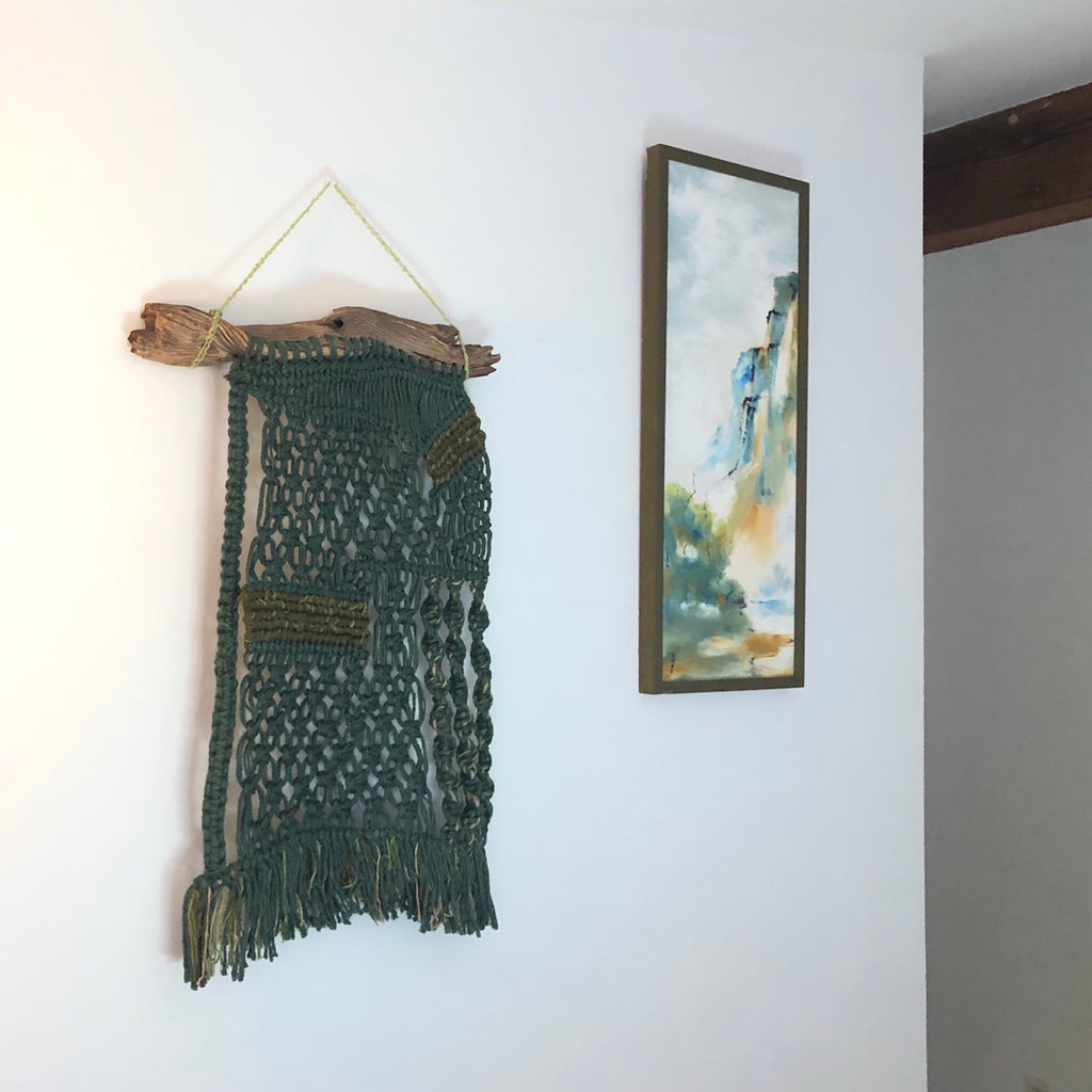 Green Boho Macrame Wall Hanging