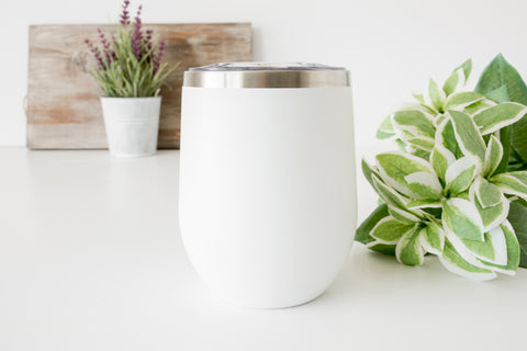 Coffee tumbler white