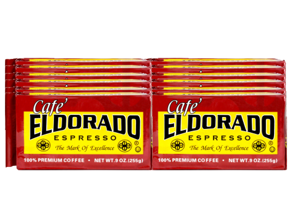 Cafe Eldorado Espresso - 9oz Brick 12-Pack - eldorado-coffee-roasters