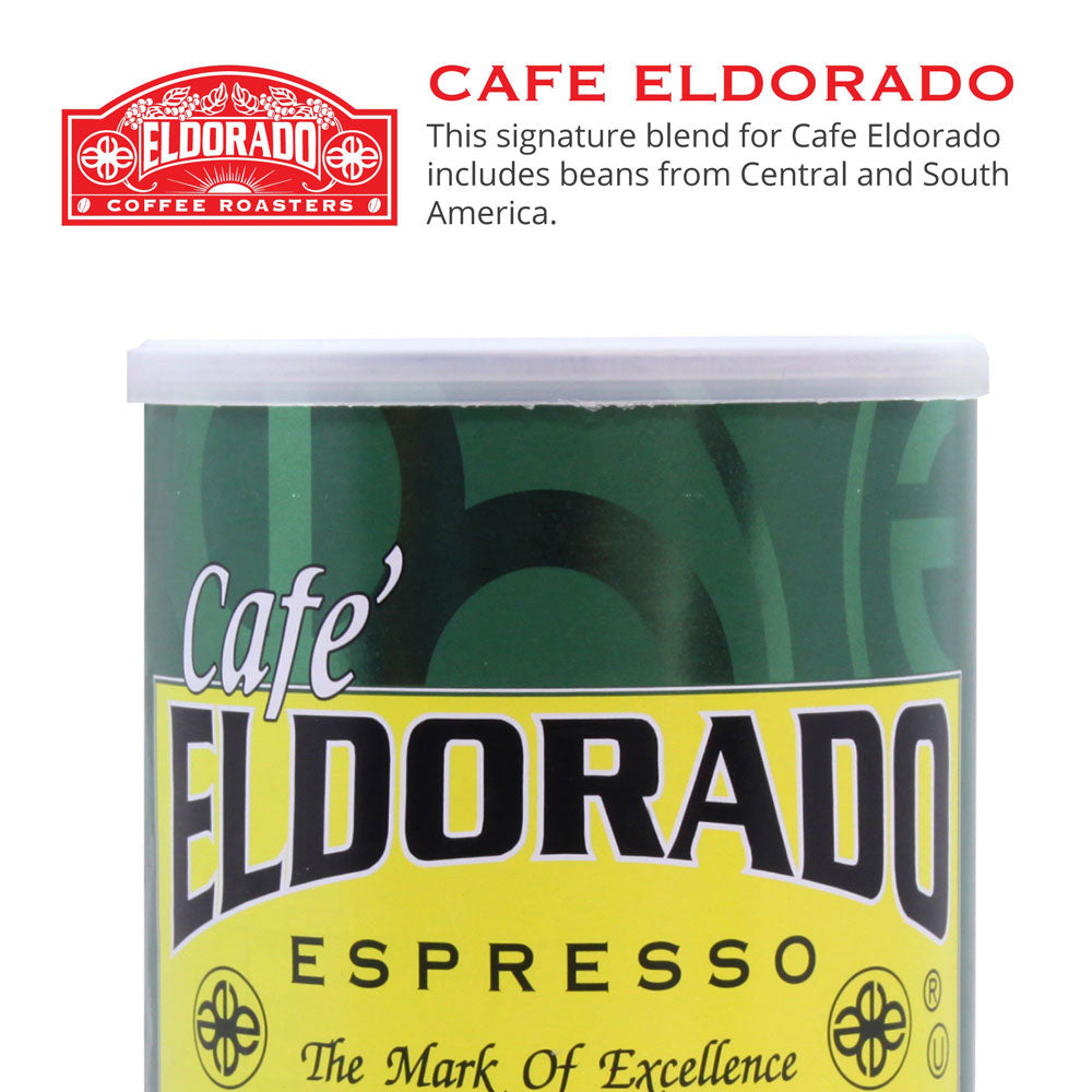 Café Eldorado Espresso – Ground, 9 oz Can Decaf - Eldorado Coffee Roasters