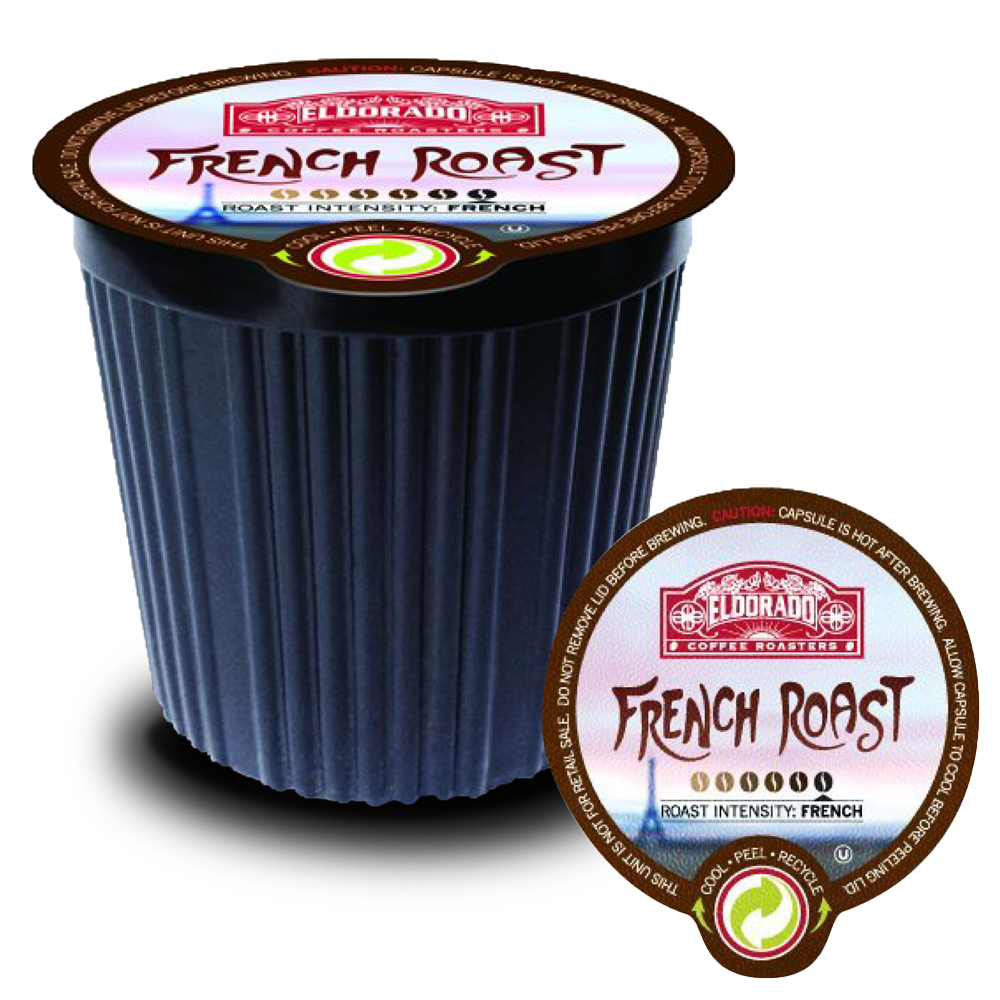 French Roast - K-Cup Single Serve Capsules, 12-pack / 96-pack - Eldorado Coffee Roasters