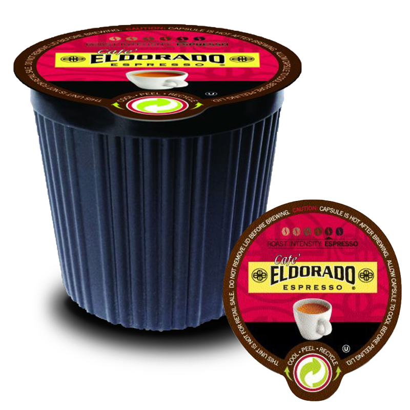 Café Eldorado - K-Cup Single Serve Capsules, 12-pack / 96-pack - Eldorado Coffee Roasters
