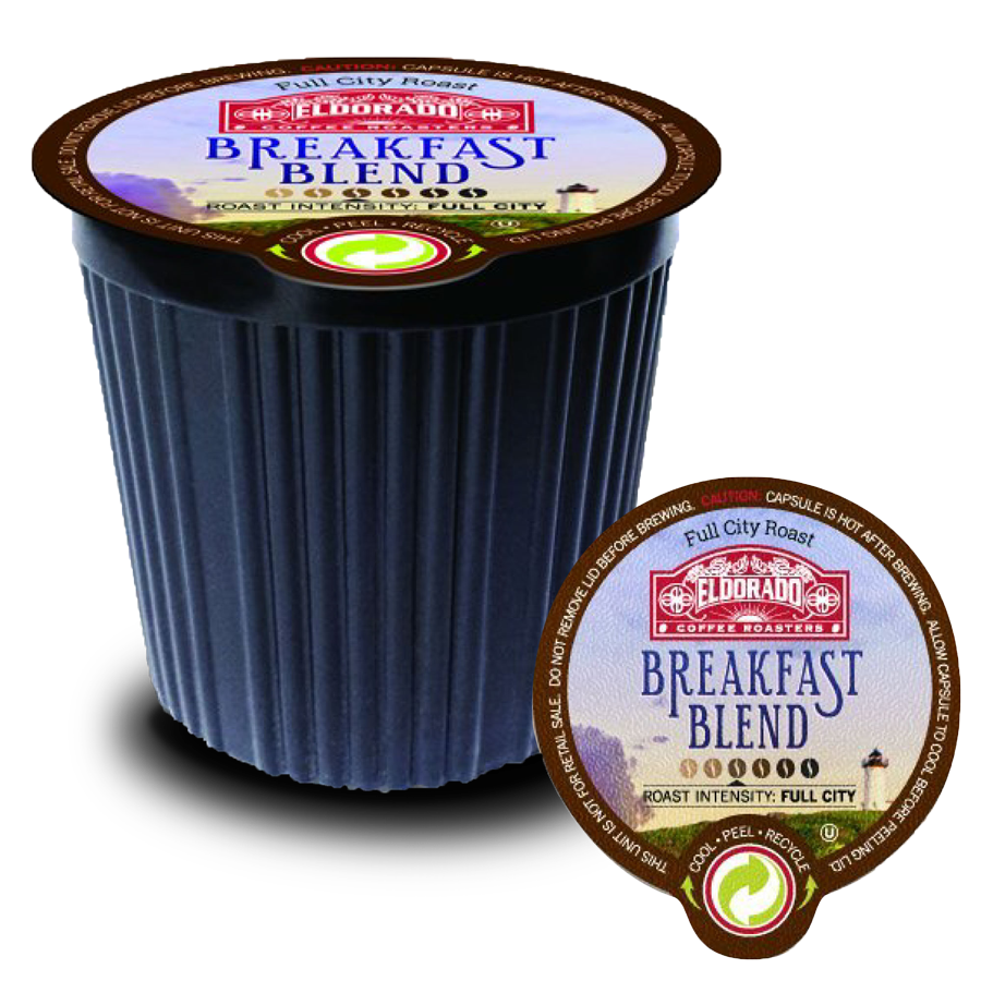 Breakfast Blend - K-Cup Single Serve Capsules, 12-Pack / 96-Pack - eldorado-coffee-roasters