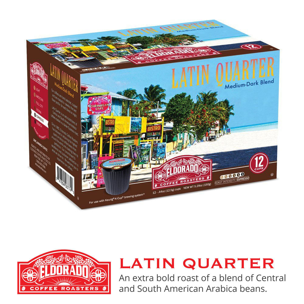 Latin Quarter - K-Cup Single Serve Capsules, 12-pack / 96-pack - Eldorado Coffee Roasters