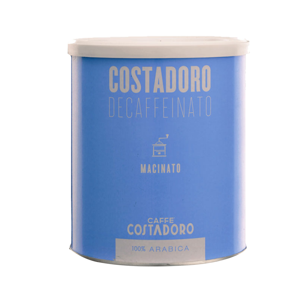 Costadoro Decaf Espresso - Ground, 8.8 oz Can / 1 Case - eldorado-coffee-roasters
