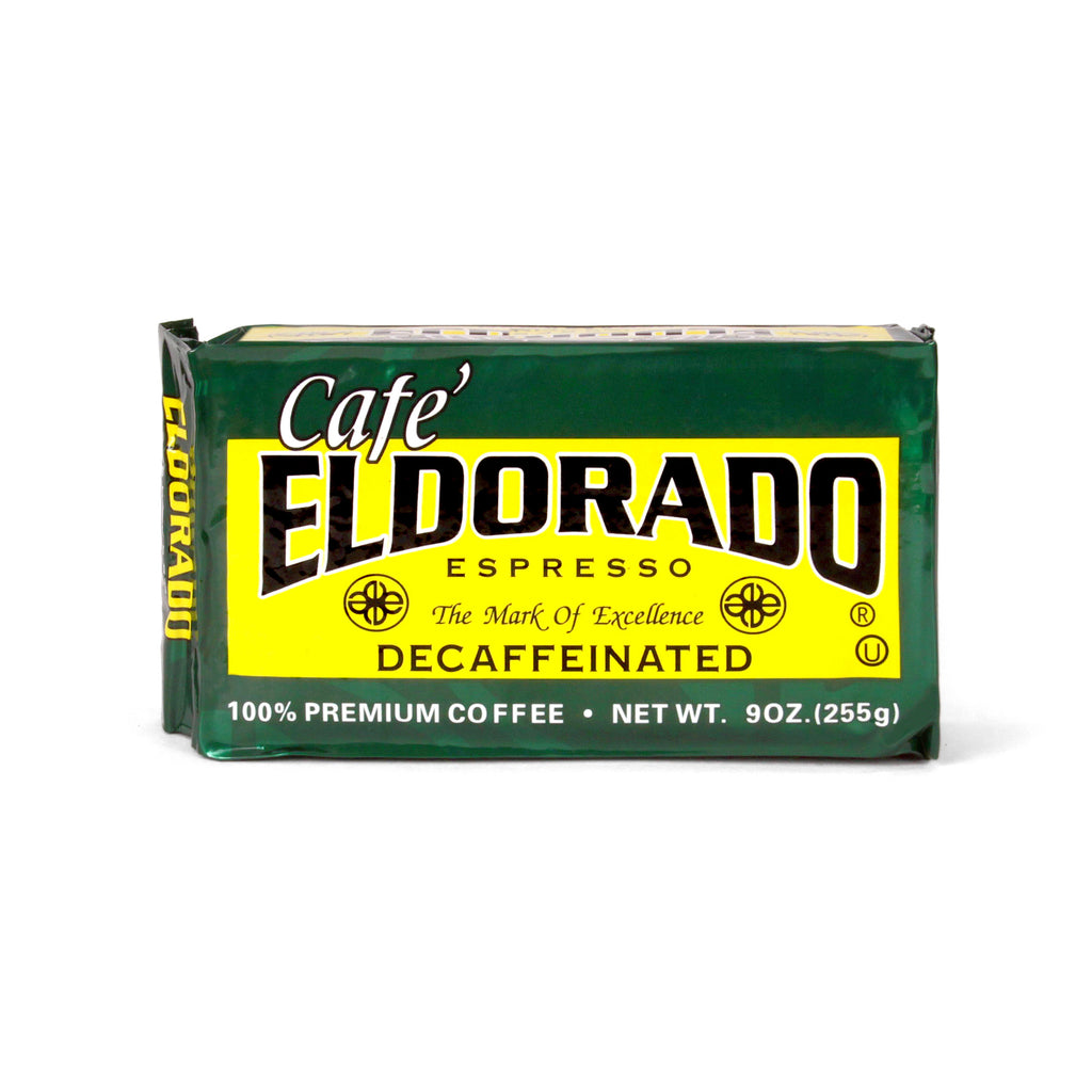 Café Eldorado Decafe Espresso – Ground, 9 oz Brick