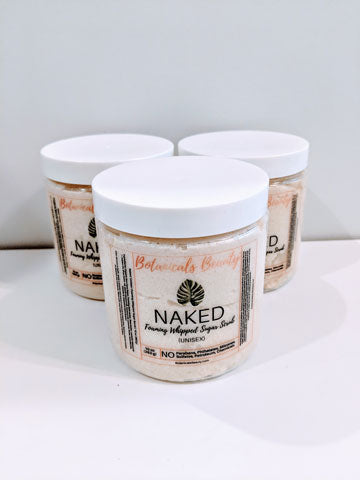 Naked (Unisex) Foaming Whipped Sugar Scrub