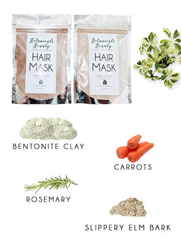 "Botanicals Beauty Rosemary & Carrot ""Nourish"" Bentonite Clay Hair Mask"