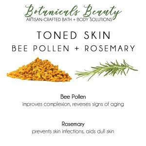 Custom Herbal Bentonite Clay Face Mask bee pollen rosemary