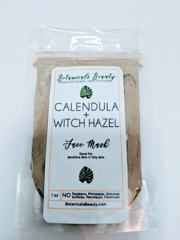 Botanicals Beauty Calendula Witch Hazel Green Clay Face Mask