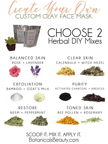 Custom Herbal Bentonite Clay Face Mask