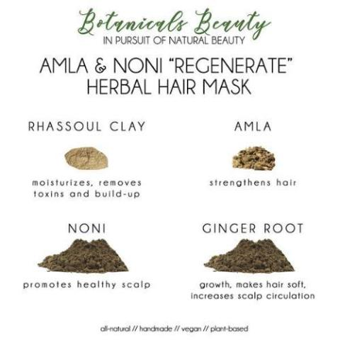 "Botanicals Beauty Amla & Noni ""Regenerate"" Herbal Hair Mask"