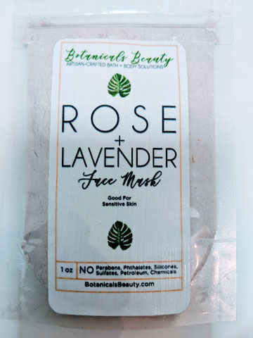 Botanicals Beauty Rose Lavender Kaolin Clay Face Mask
