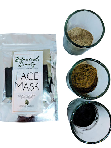 "Botanicals Beauty Pore Minimizer - Face Mask Trio ""Moist"" Bundle"