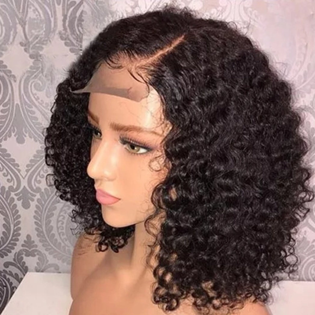 Curly Brazilian Hair Wigs with Baby Hair