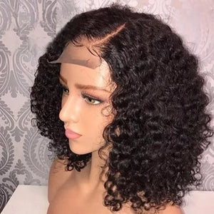 Curly Brazilian Hair Wigs with Baby Hair-Hair Schmair