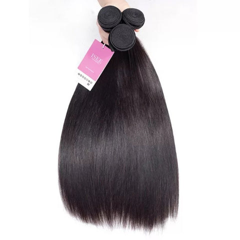 Straight Virgin Malaysian Hair Bundle with Closure-Hair Schmair